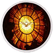 Vatican Window Round Beach Towel by Carol Groenen