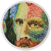 Vincent Van Gogh Round Beach Towel by Robert Kirsch