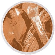 Vintage Miners Hammer Artwork Round Beach Towel by Jorgo Photography - Wall Art Gallery