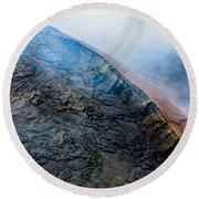 Round Beach Towel featuring the photograph Volcanic Ridge by M G Whittingham