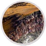 Round Beach Towel featuring the photograph Volcanic Ridge II by M G Whittingham