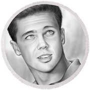 Wally Cleaver Round Beach Towel by Greg Joens