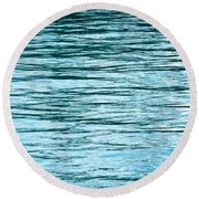 Water Flow Round Beach Towel by Steve Gadomski