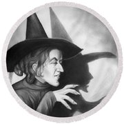 Wicked Witch Of The West Round Beach Towel by Greg Joens