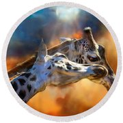 Wild Dreamers Round Beach Towel by Carol Cavalaris