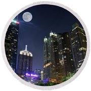 Windy City Round Beach Towel by Frozen in Time Fine Art Photography