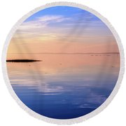 Round Beach Towel featuring the photograph Xtra Blue by Thierry Bouriat