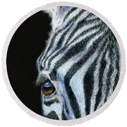 Zebra Detail Round Beach Towel by Sarah Batalka
