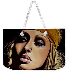 Christina Aguilera Painting Weekender Tote Bag by Paul Meijering
