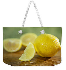 Lemon Citrus Limon Zitronen Weekender Tote Bag by Iris Richardson
