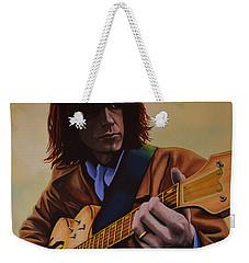 Neil Young Painting Weekender Tote Bag by Paul Meijering