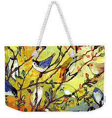 16 Birds Weekender Tote Bag by Jennifer Lommers