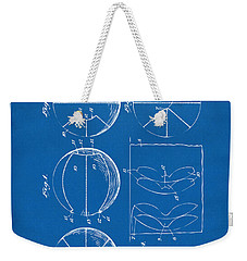 1929 Basketball Patent Artwork - Blueprint Weekender Tote Bag by Nikki Marie Smith