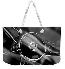 1965 Ford Mustang Cobra Emblem Steering Wheel Weekender Tote Bag by Jill Reger