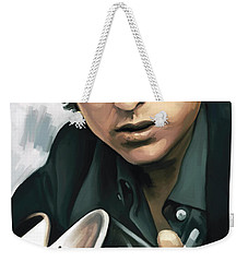 Bob Dylan Artwork Weekender Tote Bag by Sheraz A