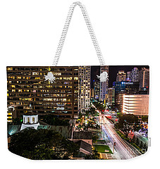 Brickell Ave Downtown Miami  Weekender Tote Bag by Michael Moriarty