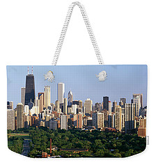 Buildings In A City, View Of Hancock Weekender Tote Bag by Panoramic Images