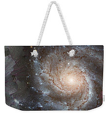 Cabbage With Galaxy And Pink Flowers Weekender Tote Bag by Panoramic Images