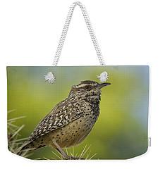 Cactus Wren  Weekender Tote Bag by Saija  Lehtonen