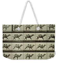 Camel Weekender Tote Bag by Eadweard Muybridge