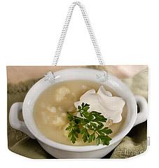 Cauliflower Soup Weekender Tote Bag by Iris Richardson