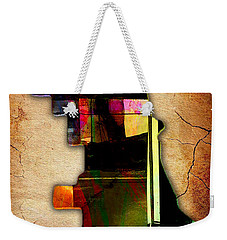 Chicago Map Watercolor Weekender Tote Bag by Marvin Blaine
