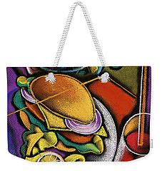 Dinner Weekender Tote Bag by Leon Zernitsky