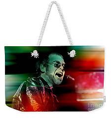 Elton John Weekender Tote Bag by Marvin Blaine