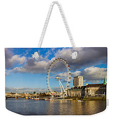 Ferris Wheel At The Waterfront Weekender Tote Bag by Panoramic Images
