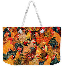 Fine Fowl Weekender Tote Bag by Ditz