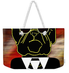Going Somewhere Mr Bulldog Weekender Tote Bag by Marvin Blaine