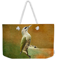 Grey-headed Woodpecker Weekender Tote Bag by Heike Hultsch