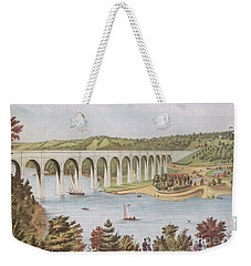 Harlem River, New York, 19th Century Weekender Tote Bag by Photo Researchers
