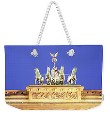 High Section View Of A Gate Weekender Tote Bag by Panoramic Images