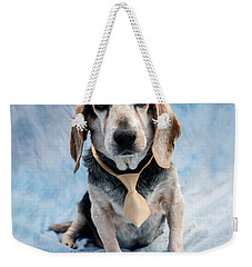 Kippy Beagle Senior And Best Dog Ever Weekender Tote Bag by Iris Richardson