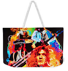 Led Zeppelin Art Weekender Tote Bag by Donna Wilson