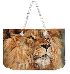 Lion Weekender Tote Bag by David Stribbling
