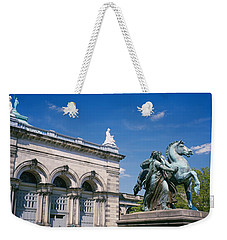 Low Angle View Of A Statue In Front Weekender Tote Bag by Panoramic Images