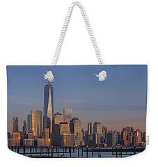 Lower Manhattan Skyline Weekender Tote Bag by Susan Candelario