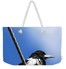 Magpie Up High Weekender Tote Bag by Jorgo Photography - Wall Art Gallery