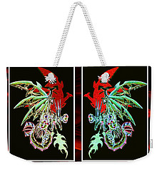 Mech Dragons Pastel Weekender Tote Bag by Shawn Dall