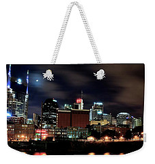 Nashville Panoramic View Weekender Tote Bag by Frozen in Time Fine Art Photography