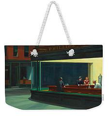 Nighthawks Weekender Tote Bag by Edward Hopper