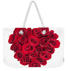 Rose Heart Weekender Tote Bag by Elena Elisseeva