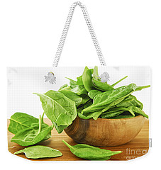 Spinach Weekender Tote Bag by Elena Elisseeva