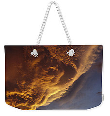 Sunset On Storm Clouds Near Mt Cook Weekender Tote Bag by Ian Whitehouse