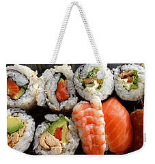 Sushi Weekender Tote Bag by Les Cunliffe