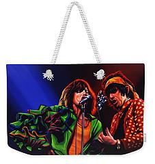The Rolling Stones 2 Weekender Tote Bag by Paul Meijering