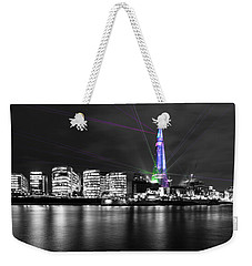 The Shard Lasers Weekender Tote Bag by Dawn OConnor
