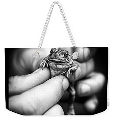 Toad In Hand Weekender Tote Bag by Edward Fielding